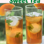 Pinterest pin for Peach Sweet Tea.