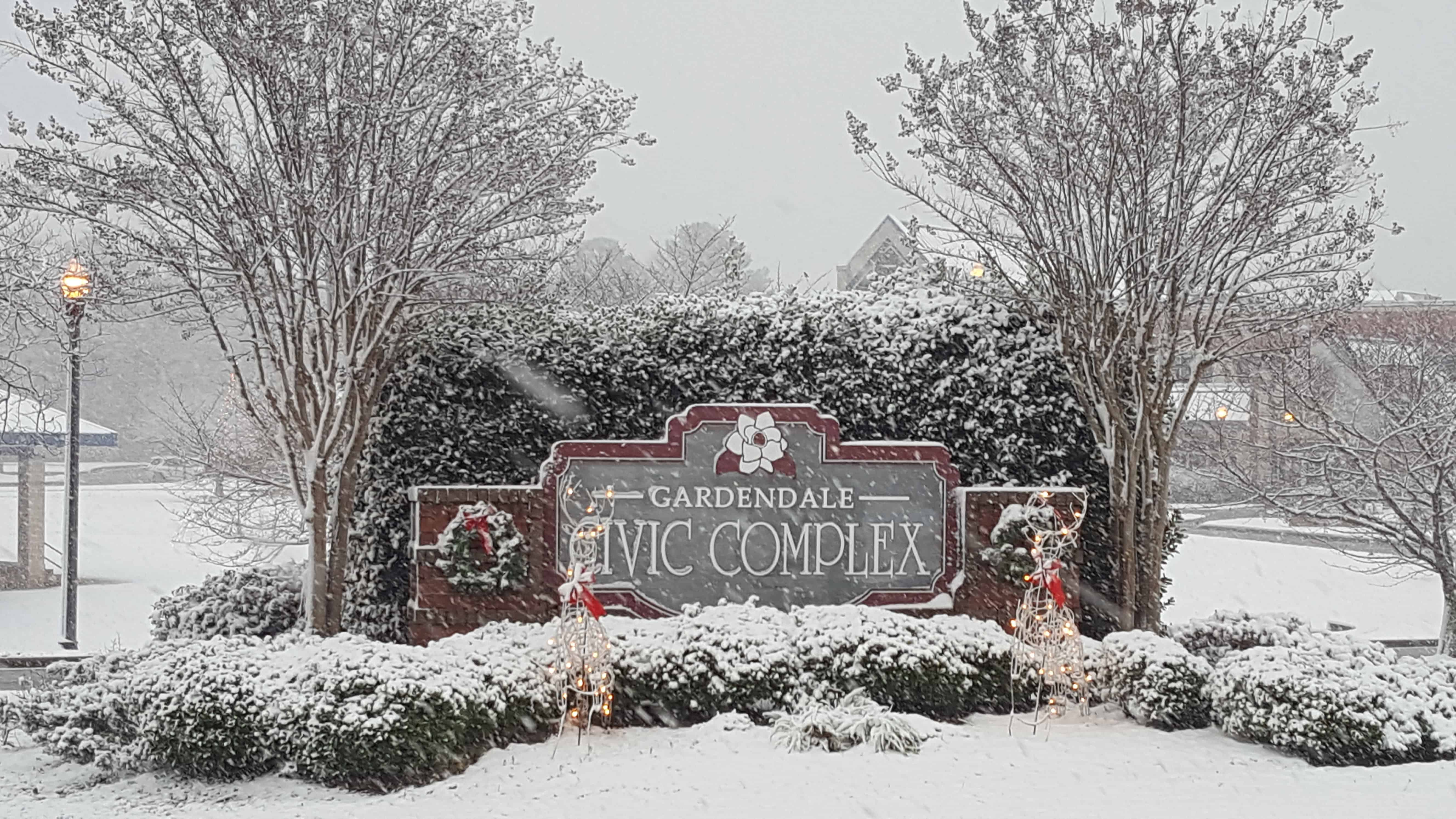 City of Gardendale snowing