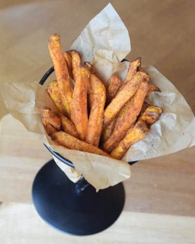 Air Fryer Indian Spiced Sweet Potato Fries i