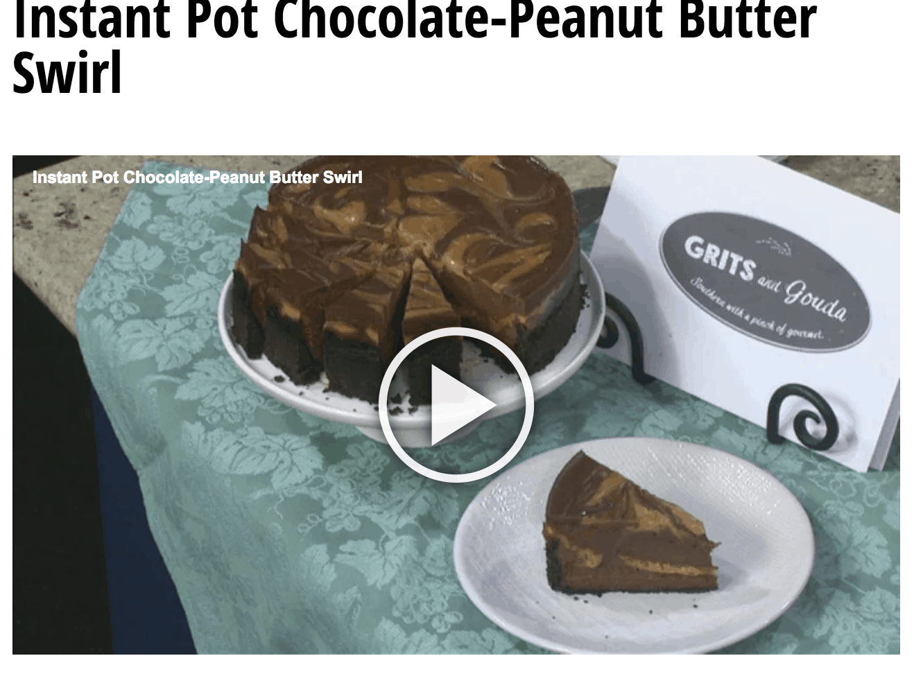 GDA Instant Pot Choco PB Cheesecake pic for video