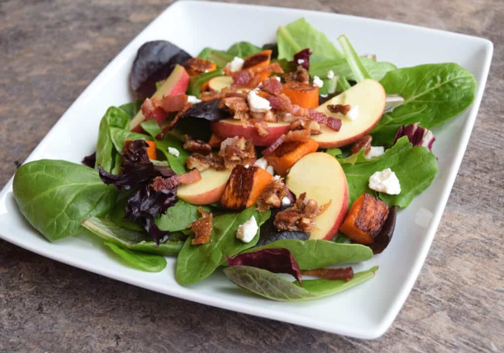 Apple and Roasted Butternut Squash Salad