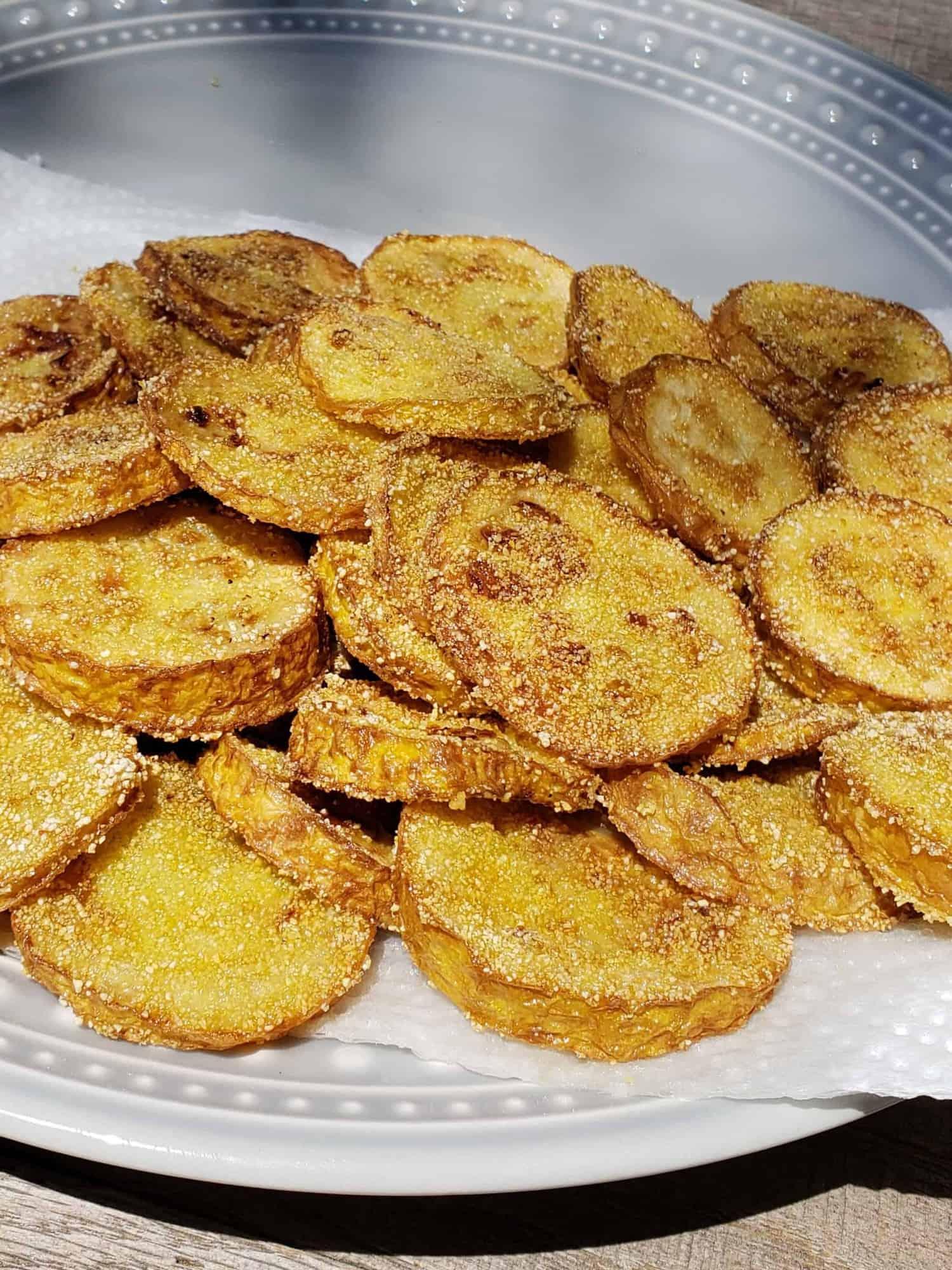 Fried Yellow Squash close up