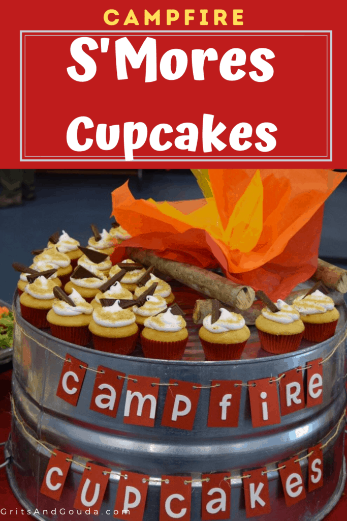 Pinterest pin for Campfire Cupcakes