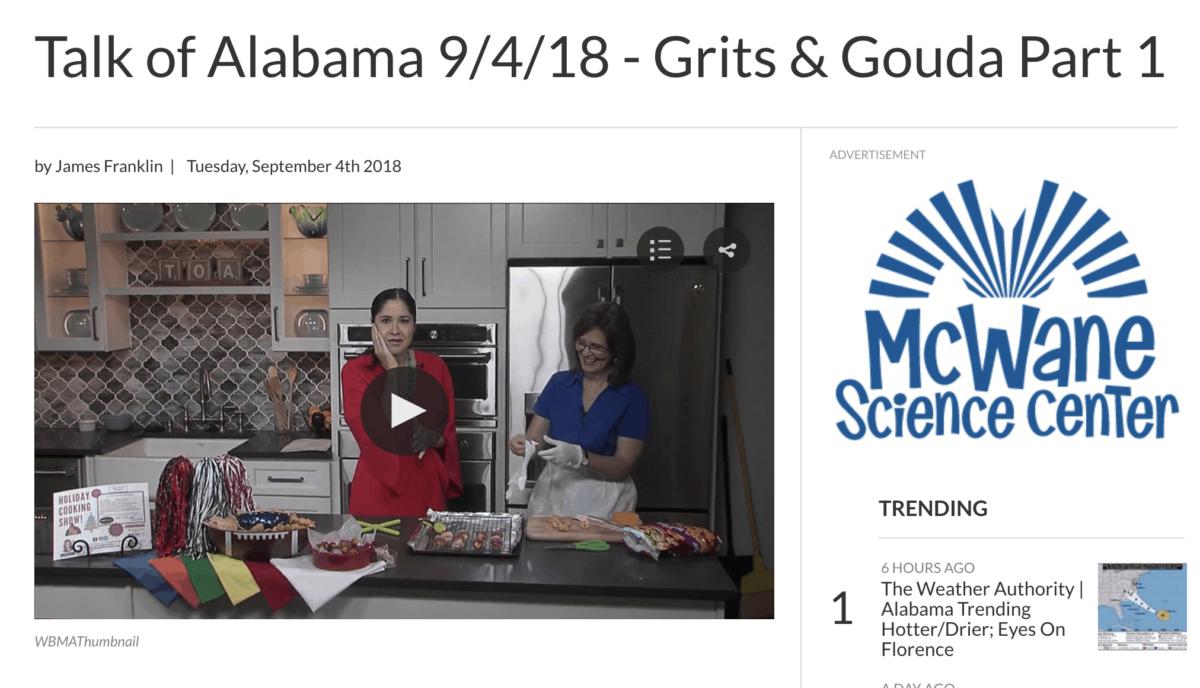 Talk of Alabama Kathleen Phillips with Nicole Allshouse making Bacon Wrapped Cheesy Tater Tots Part 2