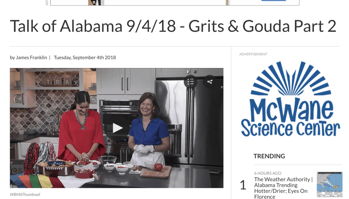 Talk of Alabama Kathleen Phillips with Nicole Allshouse making Bacon Wrapped Cheesy Tater Tots Part 1