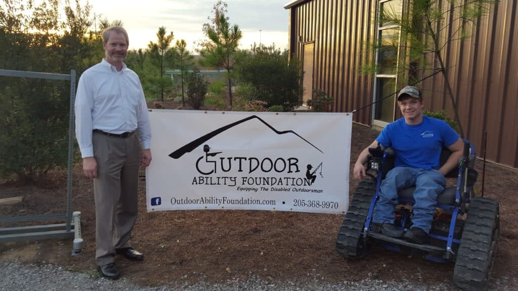 Outdoor Ability Foundation nonprofit equips the young disabled outdoorsman with Action Trackchairs to navigate the woods and beaches.
