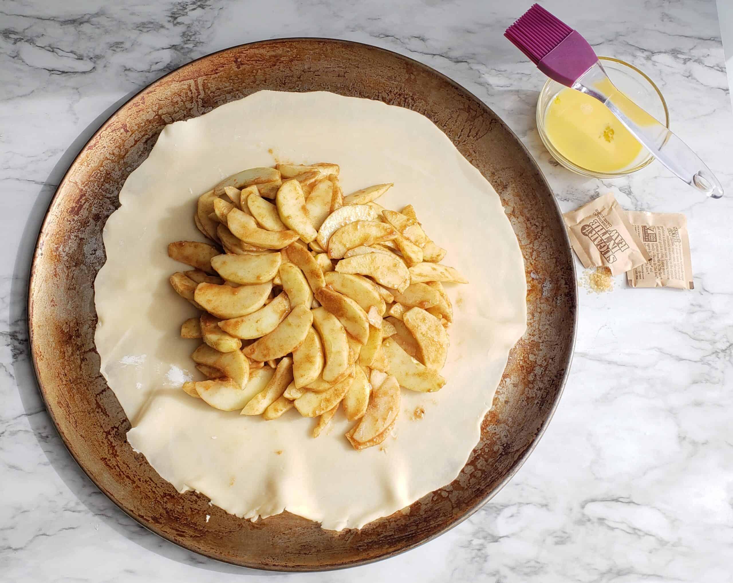 apple galette before fold over