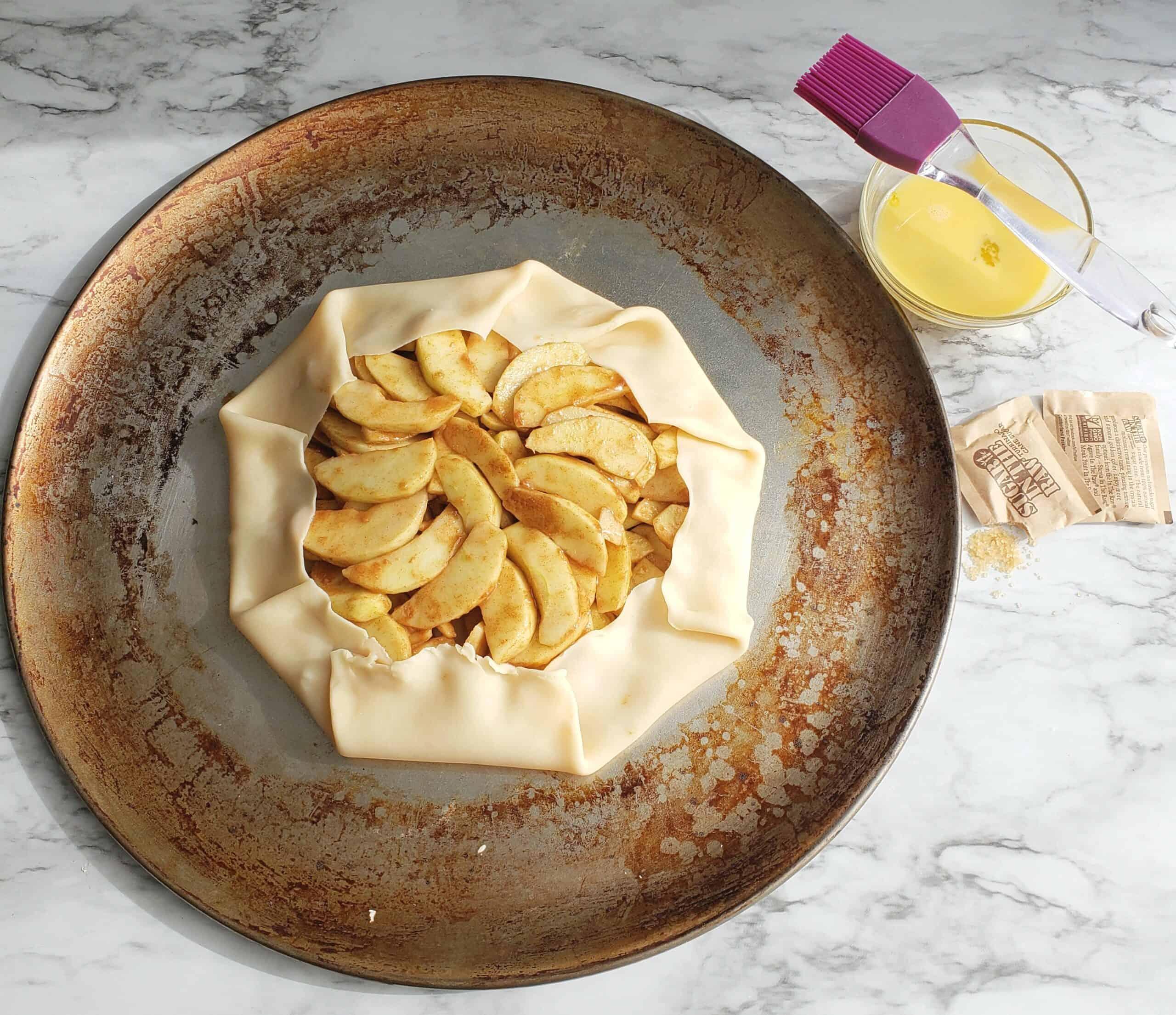 Shortcut Apple Pie Galette before baking