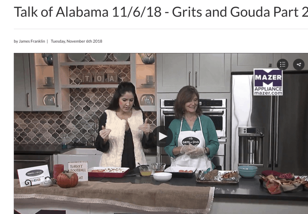 Kathleen Phillips making Candied Roasted Sweet Potatoes with Nicole Allshouse on ABC 33/40's Talk of Alabama morning show