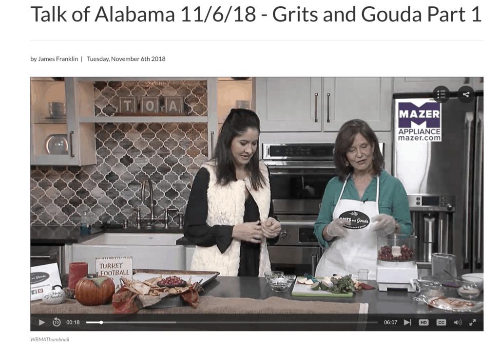 Kathleen Phillips making Cranberry Apple Jalapeno Salsa with Nicole Allshouse on ABC 33/40's Talk of Alabama morning show