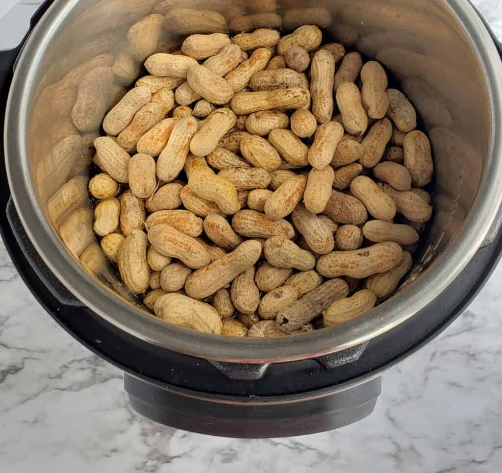 raw peanuts 6 quart Instant Pot Tony Cacheres creole seasoning to the Instant Pot f desired