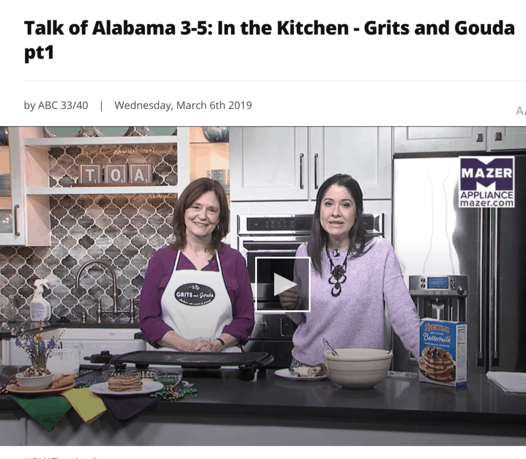 Making King Cake Pancakes with Nicole Allshouse on Talk of Alabama on Fat Tuesday