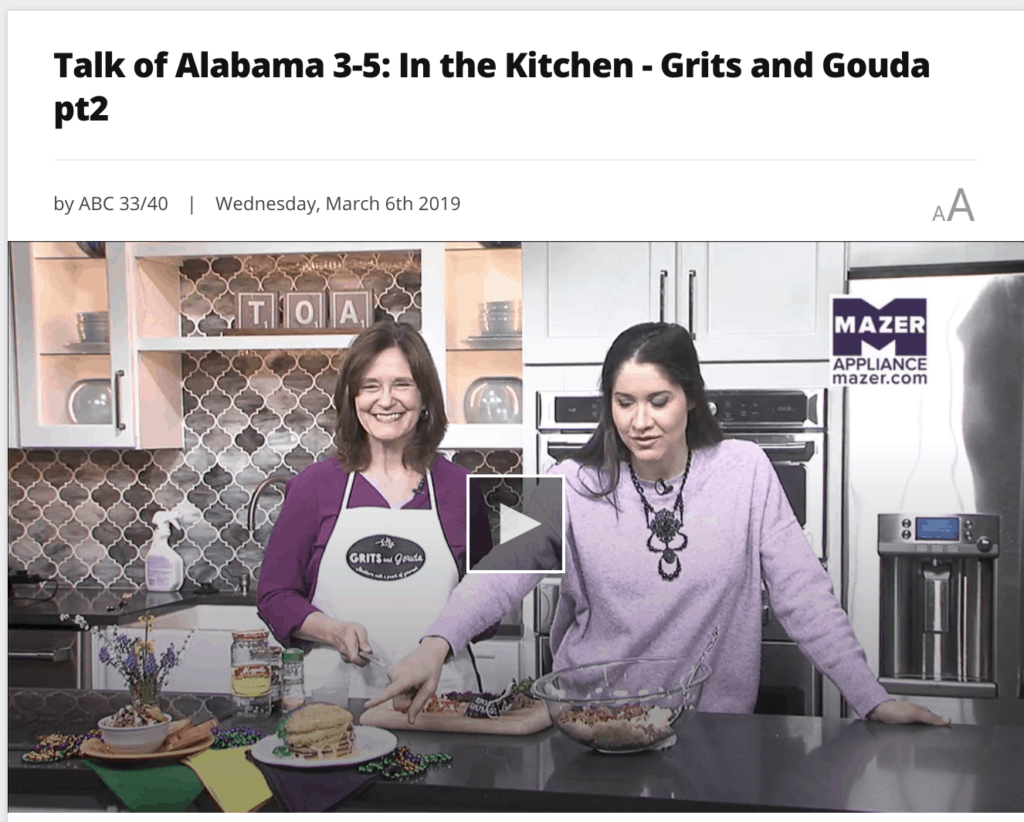 Making Muffaletta Dip with Venison Salami with Nicole Allshouse on Talk of Alabama on Fat Tuesday