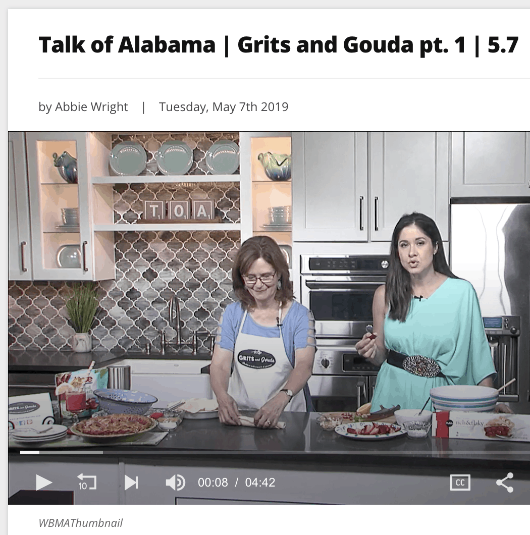 Making Shortcut Strawberry Rhubarb Pie with Nicole Allshouse on Talk of Alabama