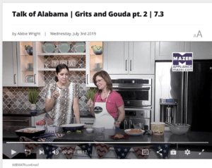 Picture of Kathleen Royal Phillips and Nicole Allshouse on Talk of Alabama making peach cobbler