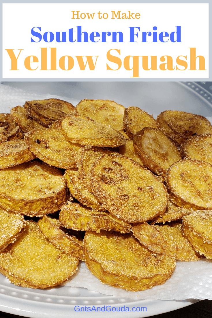 Southern Fried Yellow Squash Pinterest pin
