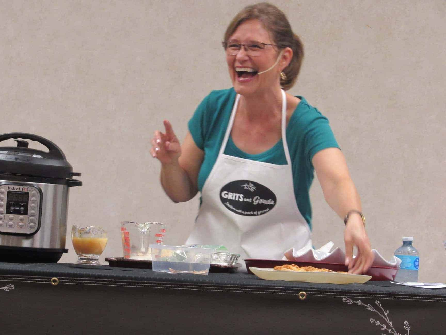 Kathleen Royal Phillips teaches Instant Pot classes and a Holiday Cooking Show. Her Southern shortcut recipes are easy and she always makes sure everyone has fun.