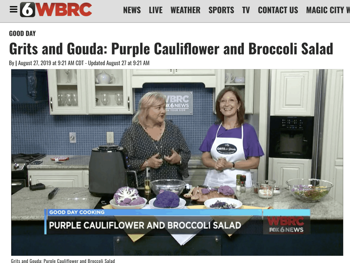 Kathleen Phillips and Janice Rogers make Roasted Purple Cauliflower on WBRC's Good Day Alabama