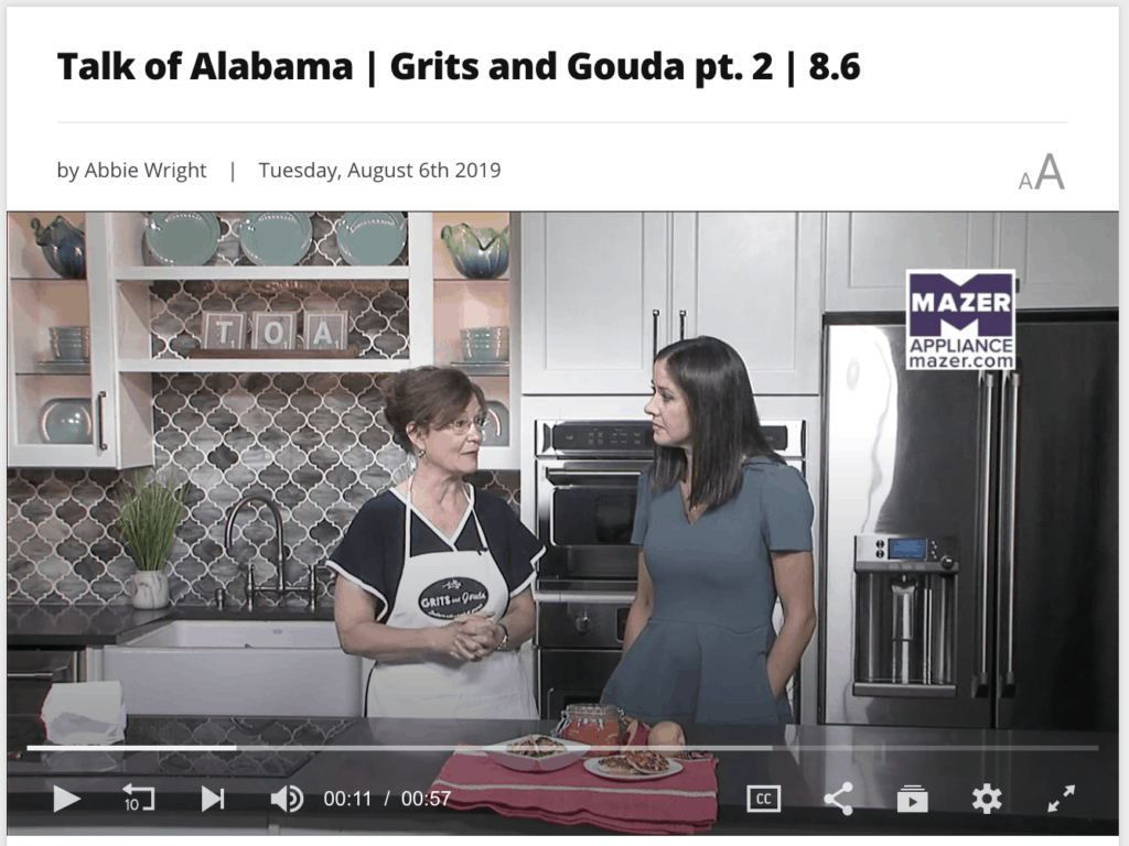Kathleen Royal Phillips and Nicole Allshouse making Sweet Heat Pickles and Vidalia Onions on ABC 33/40's Talk of Alabama August 6 2019