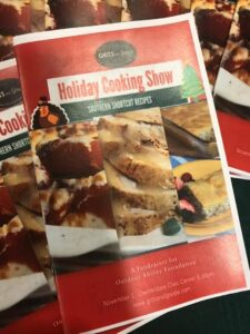 Recipe booklet for first Holiday Cooking Show