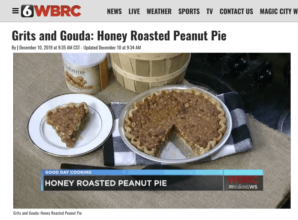 wbrc video clip peanut pie basket of peanuts
