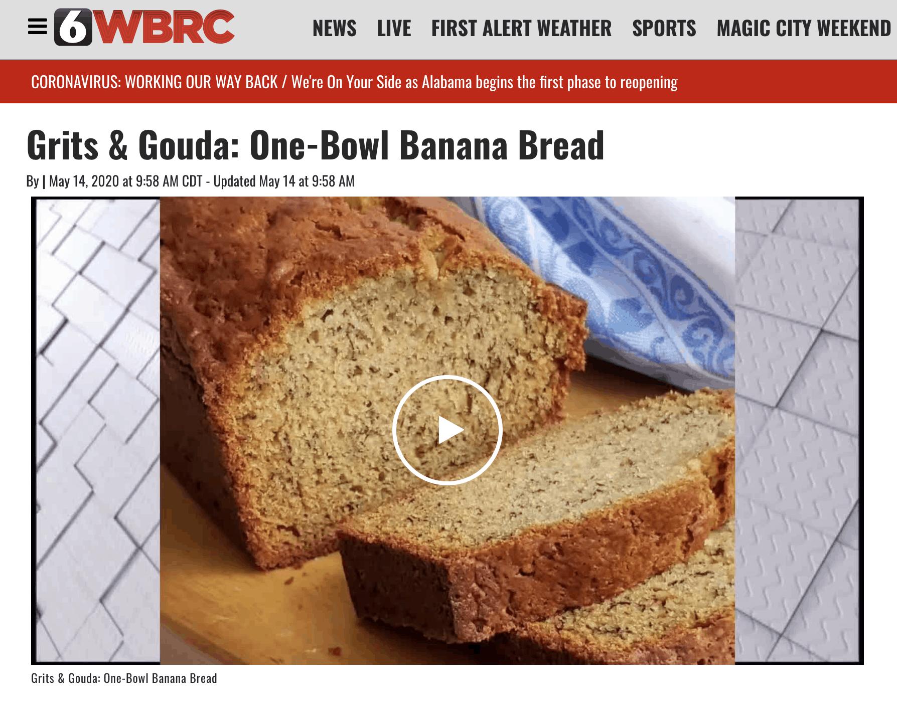 Banana Bread WBRC Video image