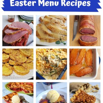 Easter menu grid of 9 recipes