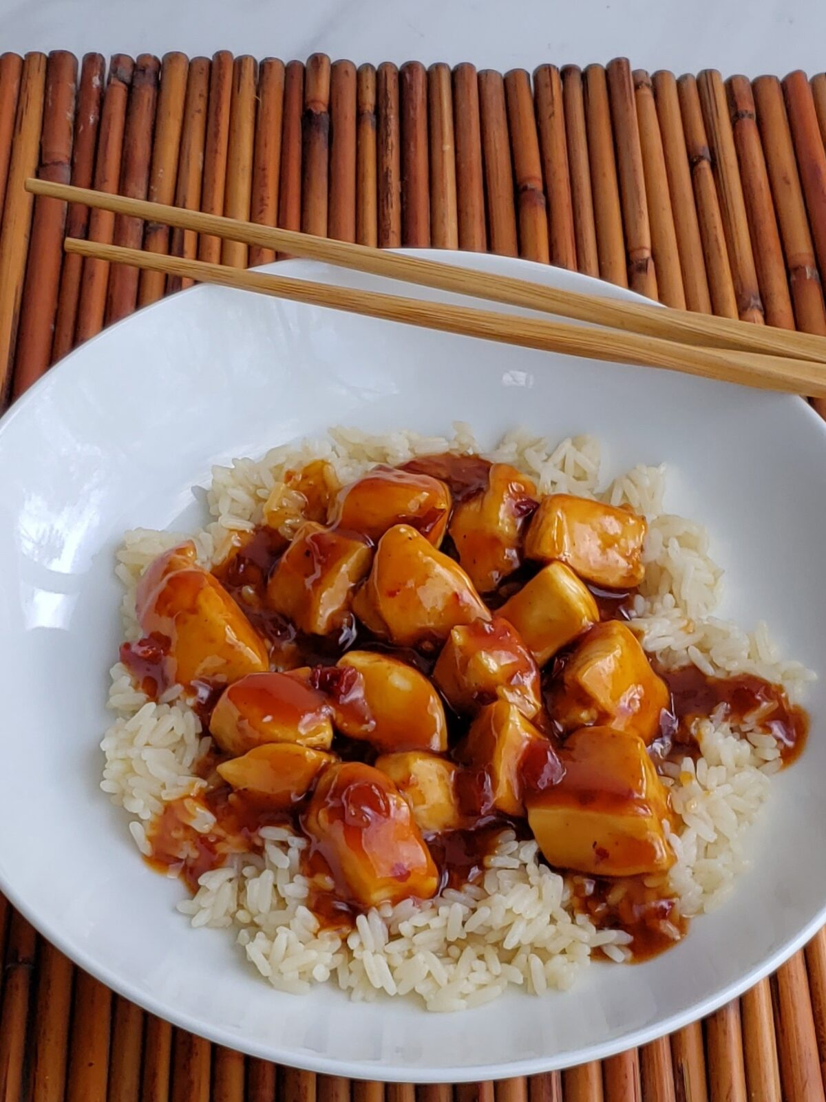 general tso's chicken on rice