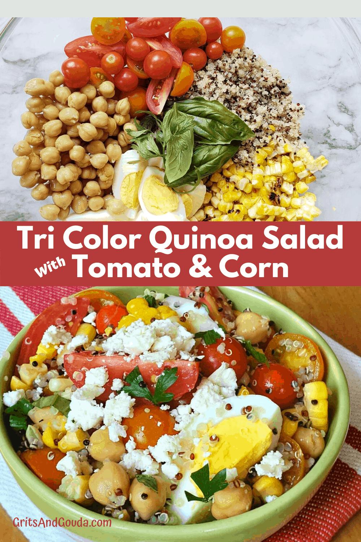 Pinterest Pin for Tri Color Quinoa Salad