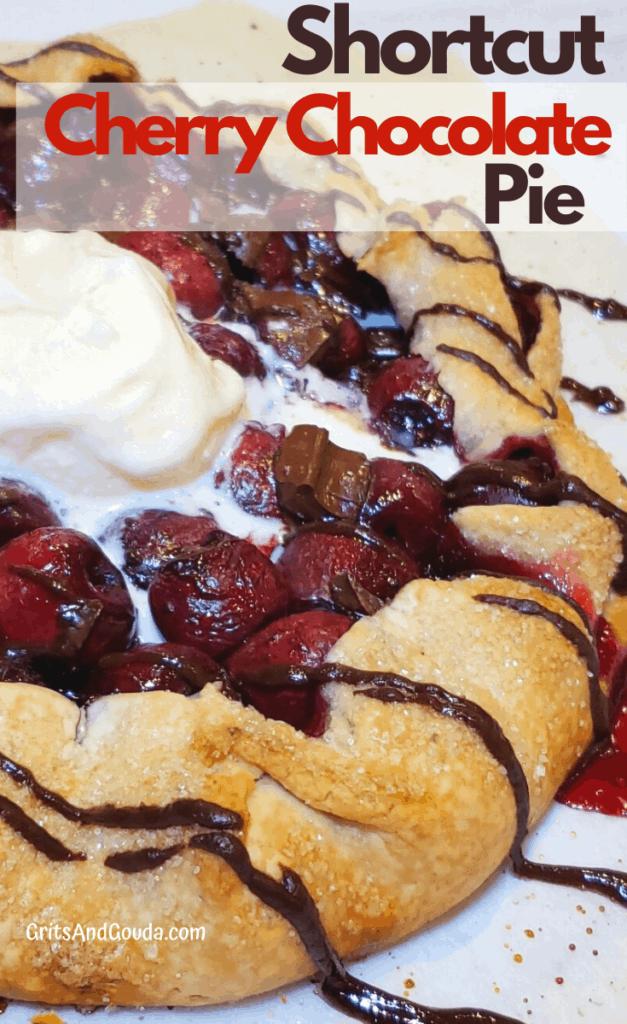 Pinterest Pin Shortcut Cherry Chocolate Pie