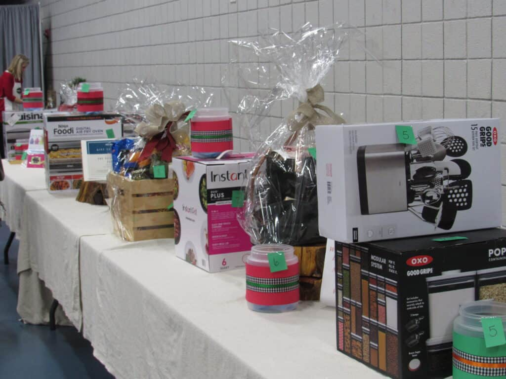 gift items on a table